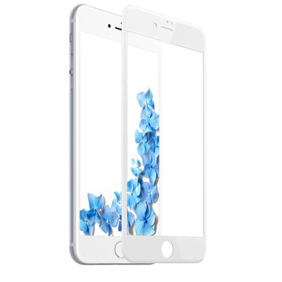 Противоударное стекло Glass Full Cover 3D край для iPhone 7 Plus/iPhone 8 Plus White