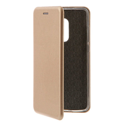 Чехол-книжка Fashion для Xiaomi Redmi Note 4 Leather Gold магнитный