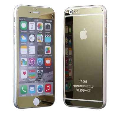 Противоударное Glass Screen Protecter Tempered для Apple iPhone 6/6s Gold комплект на две стороны