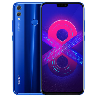 Смартфон Huawei Honor 8X 4/64Gb JSN-L22 Blue/Синий US